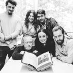 The team with the First Folio. L-R: Oliver Towse, Jim Conway, Emily Jane Kerr, Siobhán Daly, Kit Loyd and Chris Thomson.